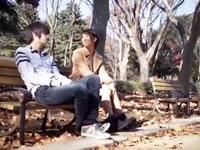 ☆公園で久しぶりに会った初恋の人・・・。秋の夕暮のベンチで元気のない彼の相談にのっていると・・・。のサムネイル画像